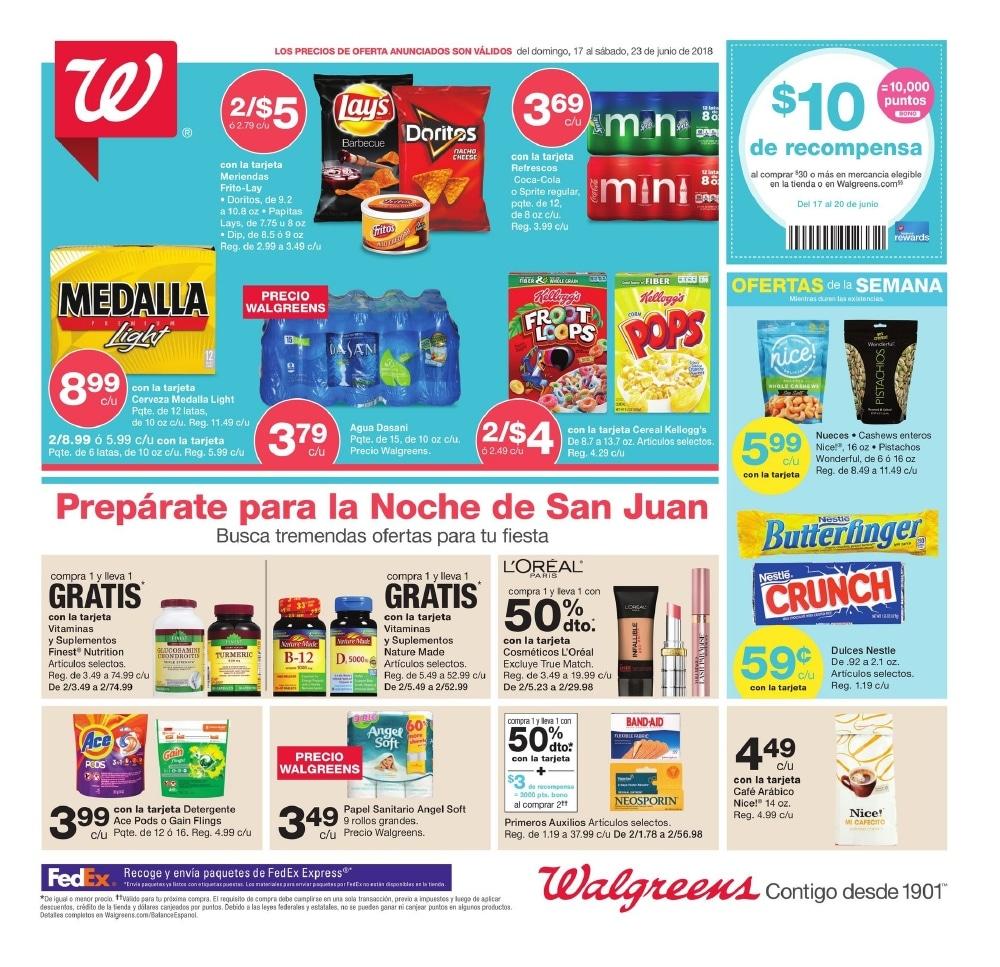 Shopper de Walgreens 17 de Junio al 23 de Junio de 2018