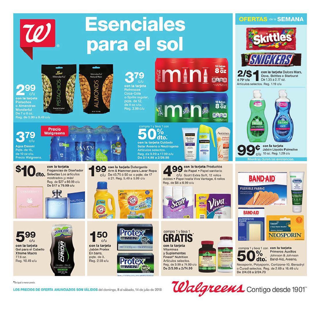Shopper de Walgreens 8 de Julio al 14 de Julio de 2018