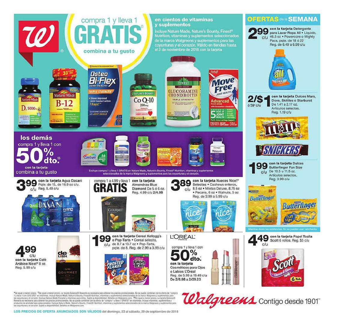 Shopper de Walgreens 23 de Septiembre al 29 Septiembre de 2018