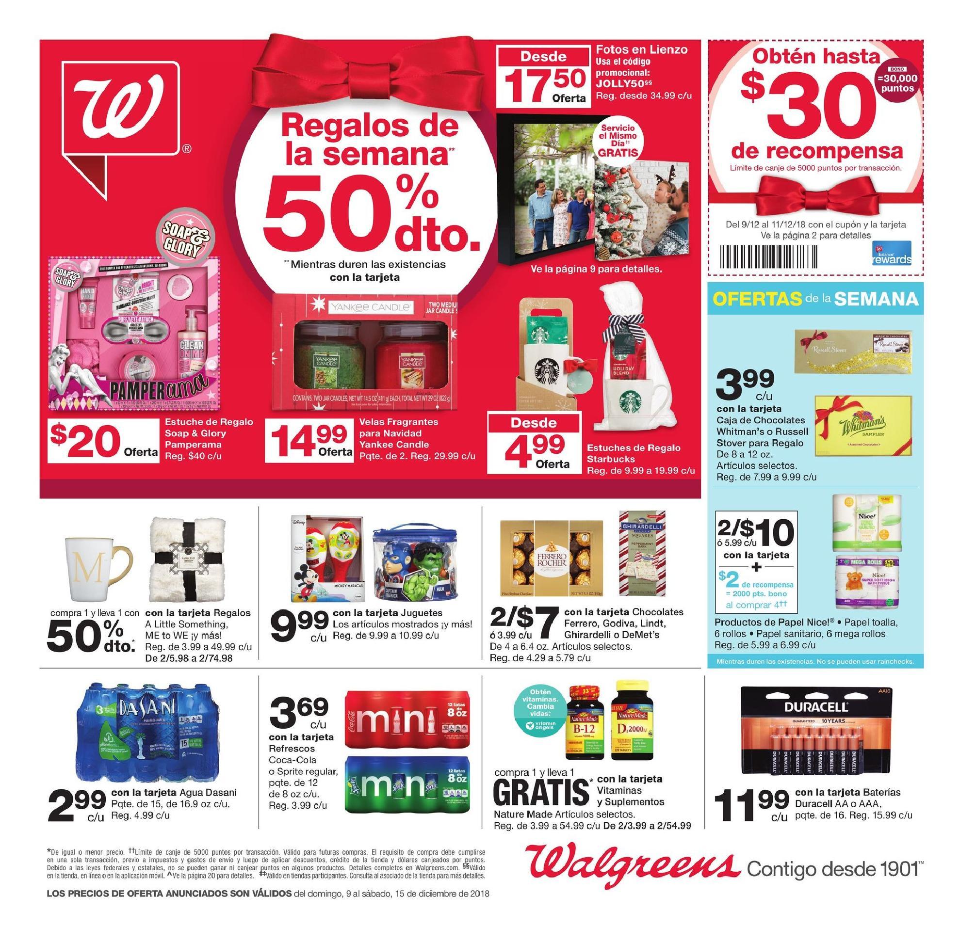 Shopper de Walgreens 9 de Diciembre al 15 Diciembre de 2018