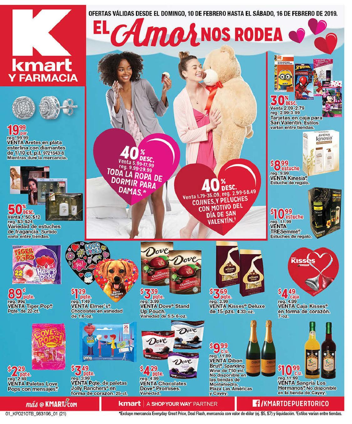 Shopper Kmart 10 de Febrero al 16 de Febrero de 2019