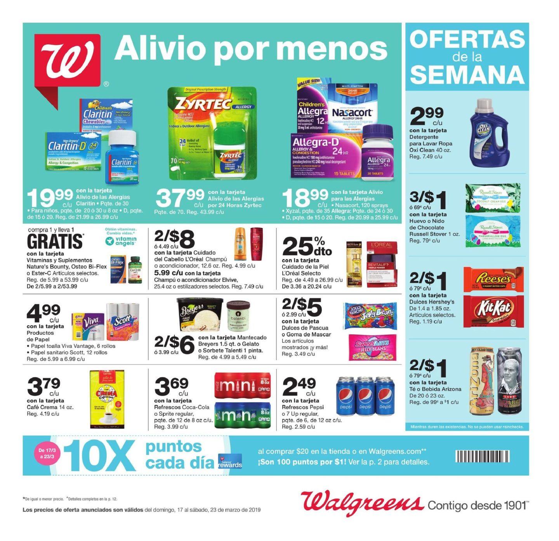 Shopper de Walgreens 17 de Marzo al 23 de Marzo de 2019