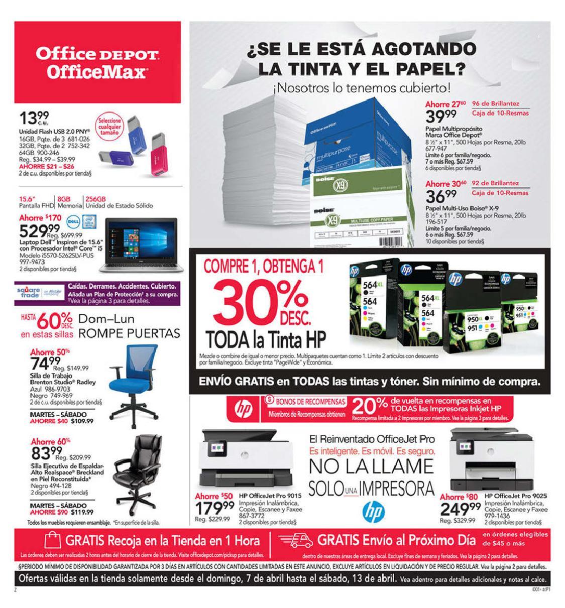 Shopper Office Depot | Office Max 7 de Abril al 13 de Abril de 2019