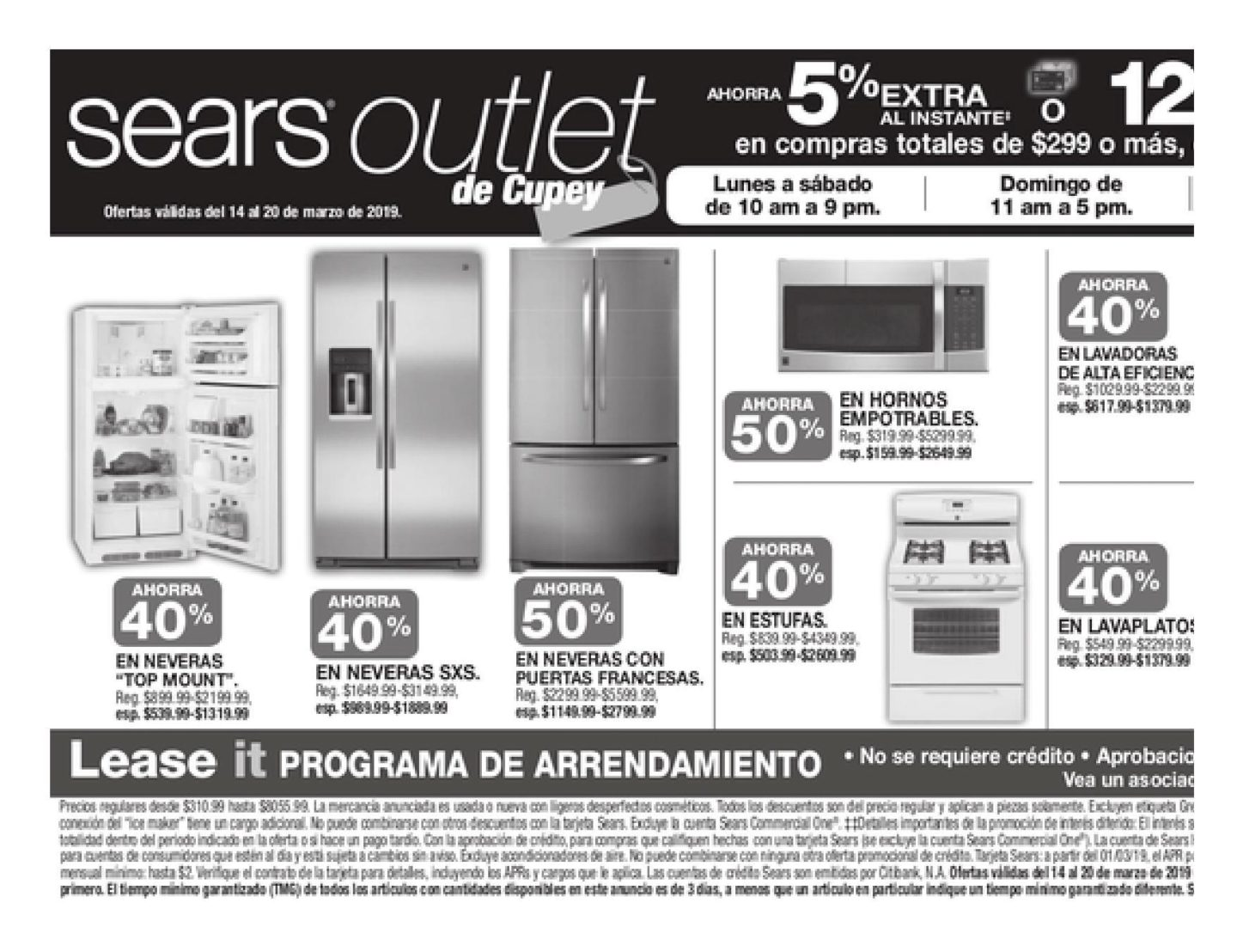 Shopper Sears 15 de Marzo al 20 de Marzo de 2019