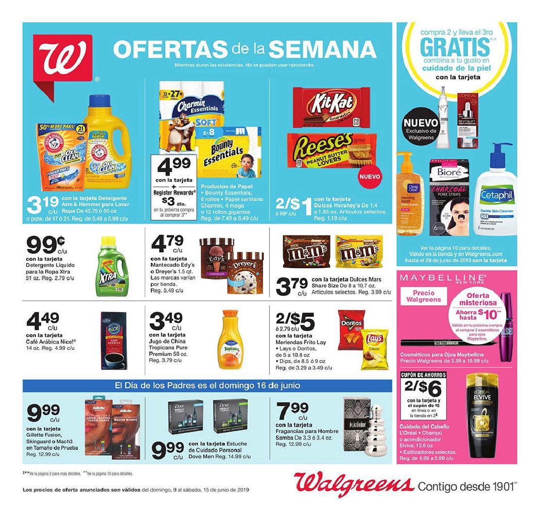 Shopper de Walgreens 9 de Junio al 15 de Junio de 2019