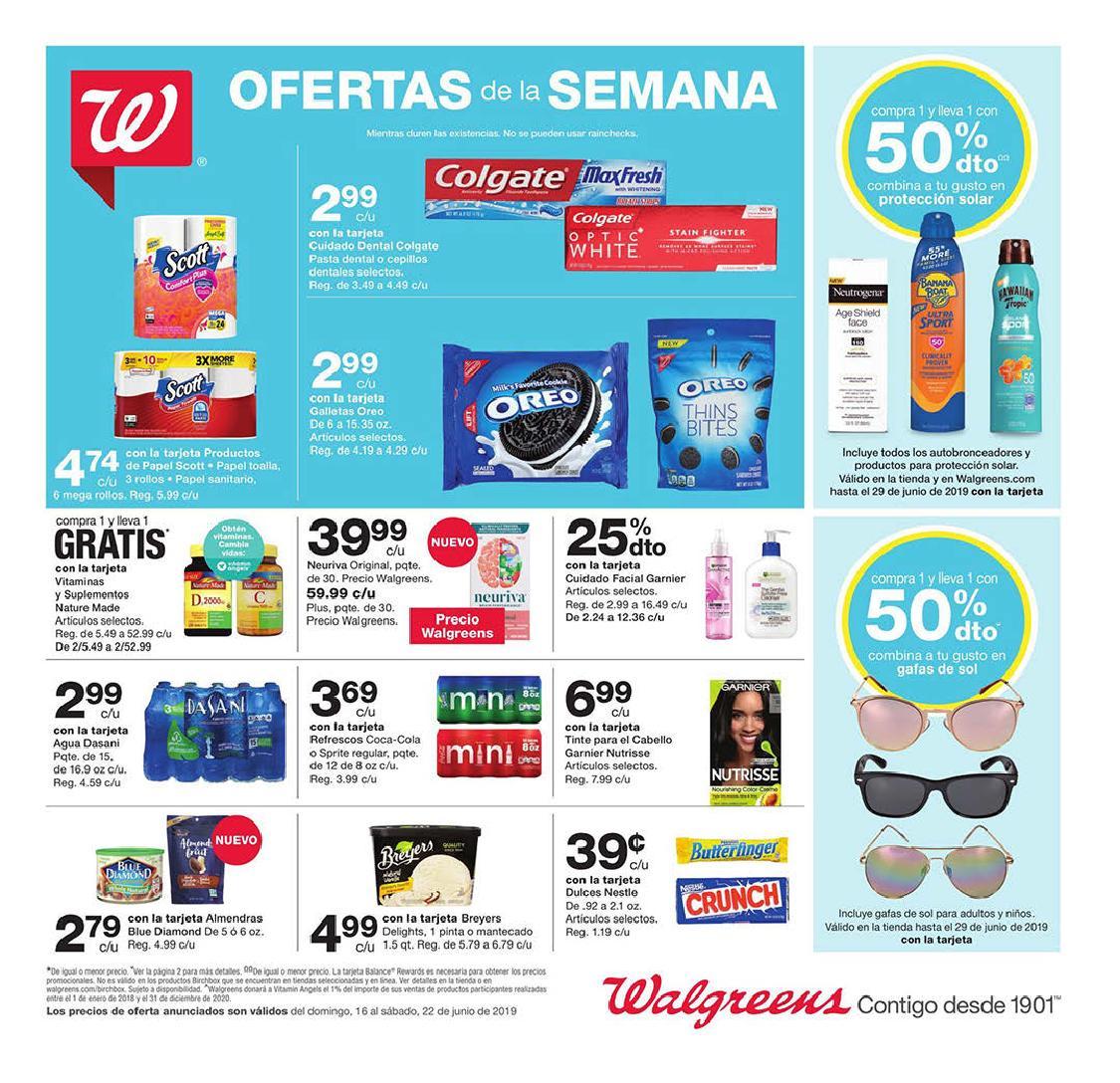 Shopper de Walgreens 16 de Junio al 22 de Junio de 2019
