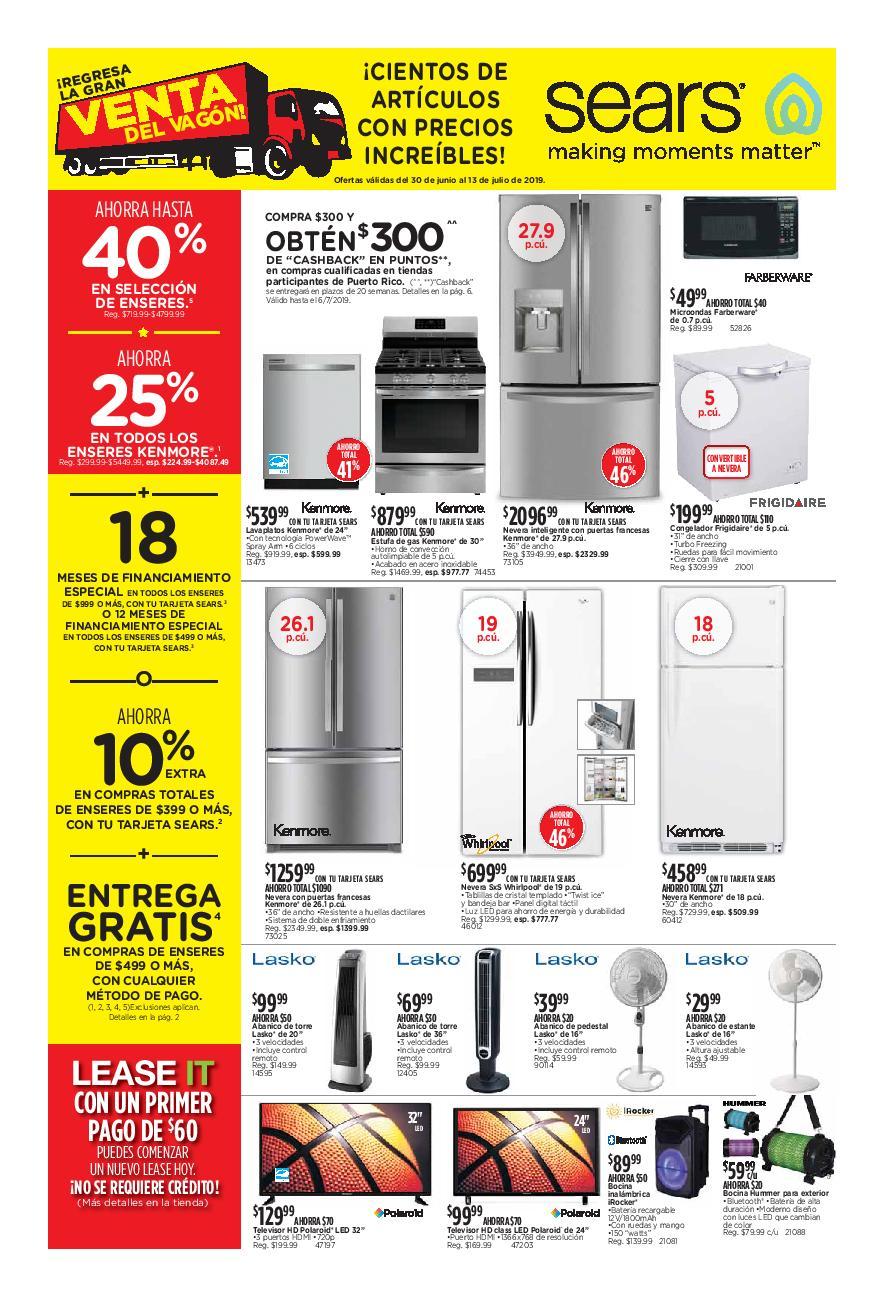 Shopper Sears 30 de Junio al 13 de Julio de 2019