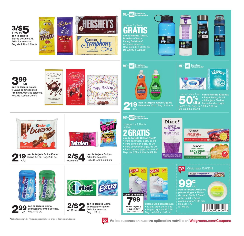 Shopper de Walgreens 4 de Agosto al 10 de Agosto de 2019