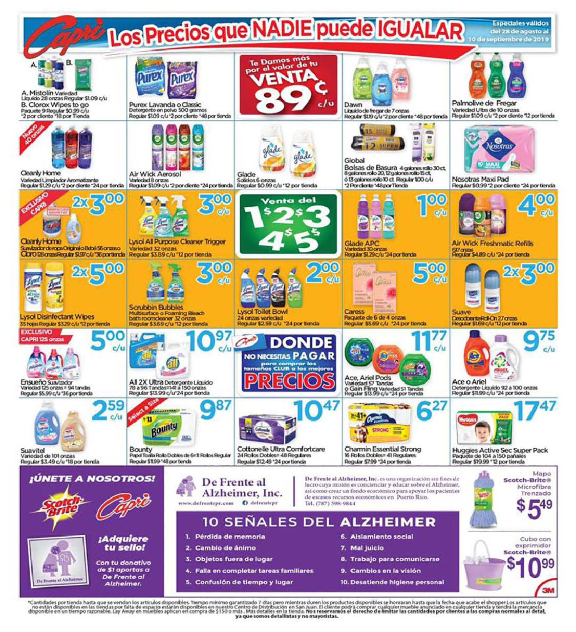Shopper Capri 28 de Agosto al 10 de Septiembre de 2019