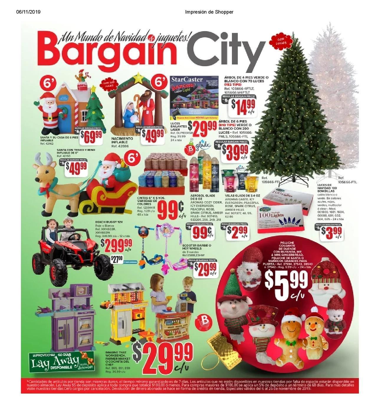 Shopper Bargain City 6 de Noviembre al 26 de Noviembre de 2019