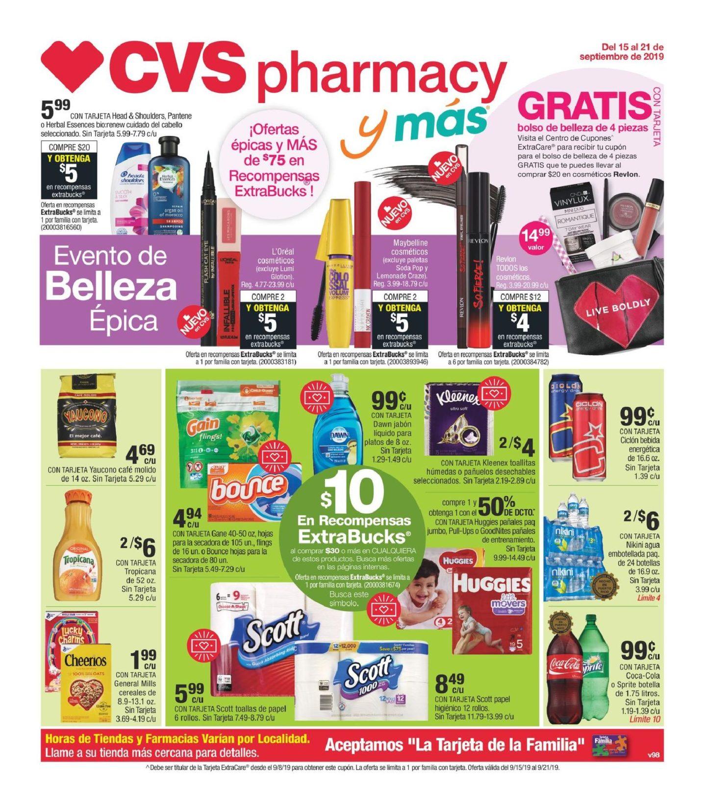 Shopper de CVS 15 de Septiembre al 21 de Septiembre de 2019