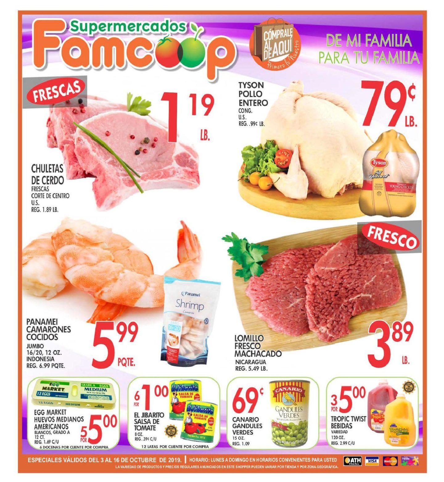 Shopper Fam Coop 3 de Octubre al 16 de Octubre de 2019