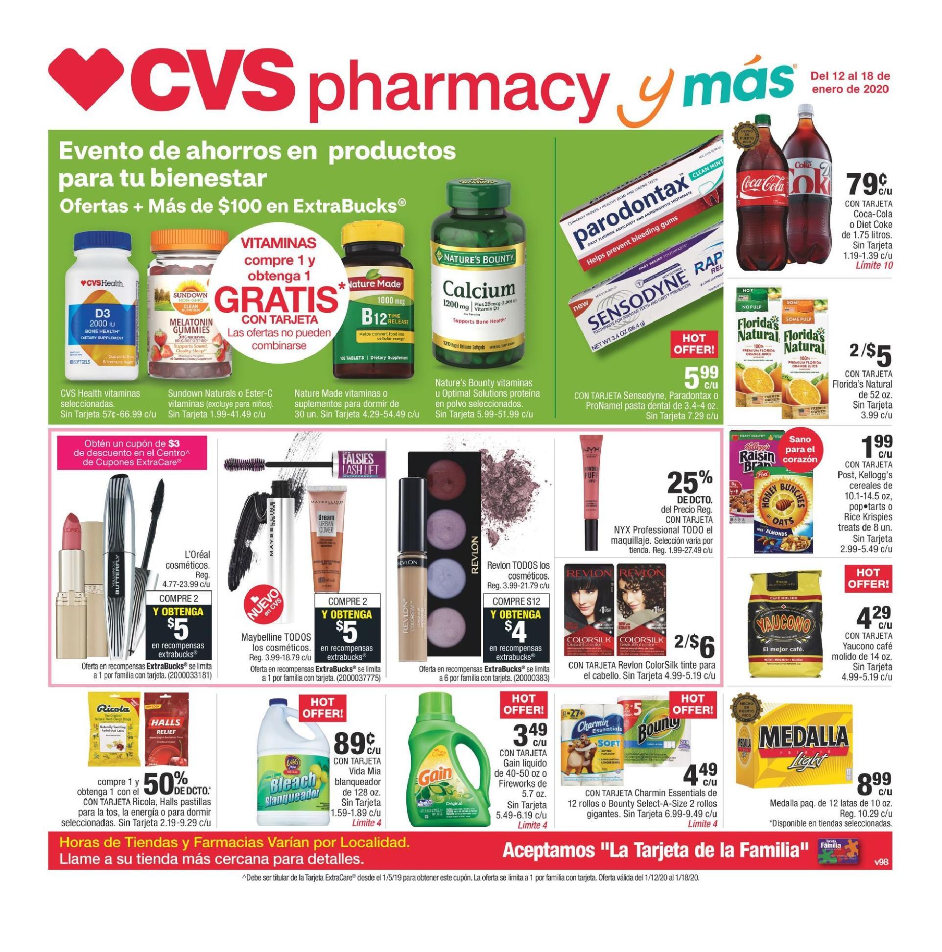 Shopper de CVS 12 de Enero al 18 de Enero de 2020