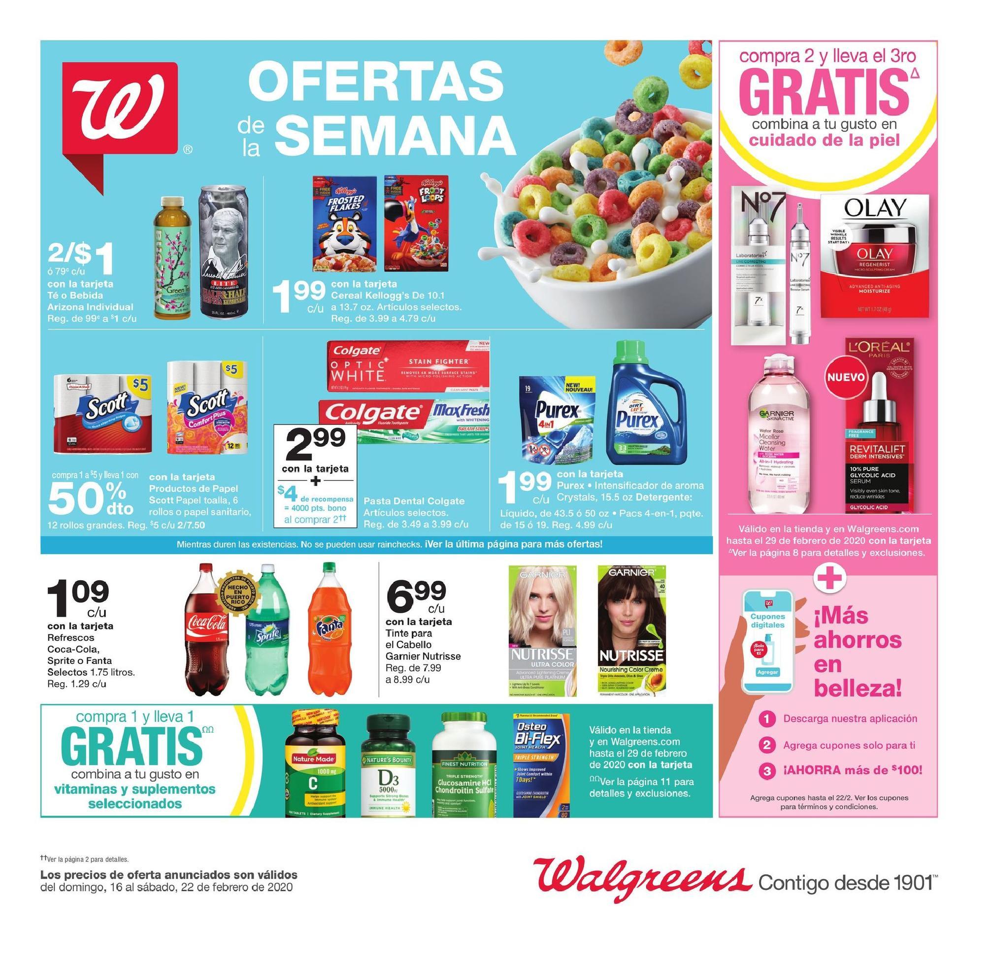 Shopper de Walgreens 16 de Febrero al 22 de Febrero de 2020
