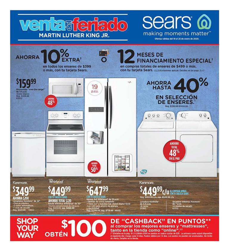 Shopper Sears 19 de Enero al 25 de Enero de 2020