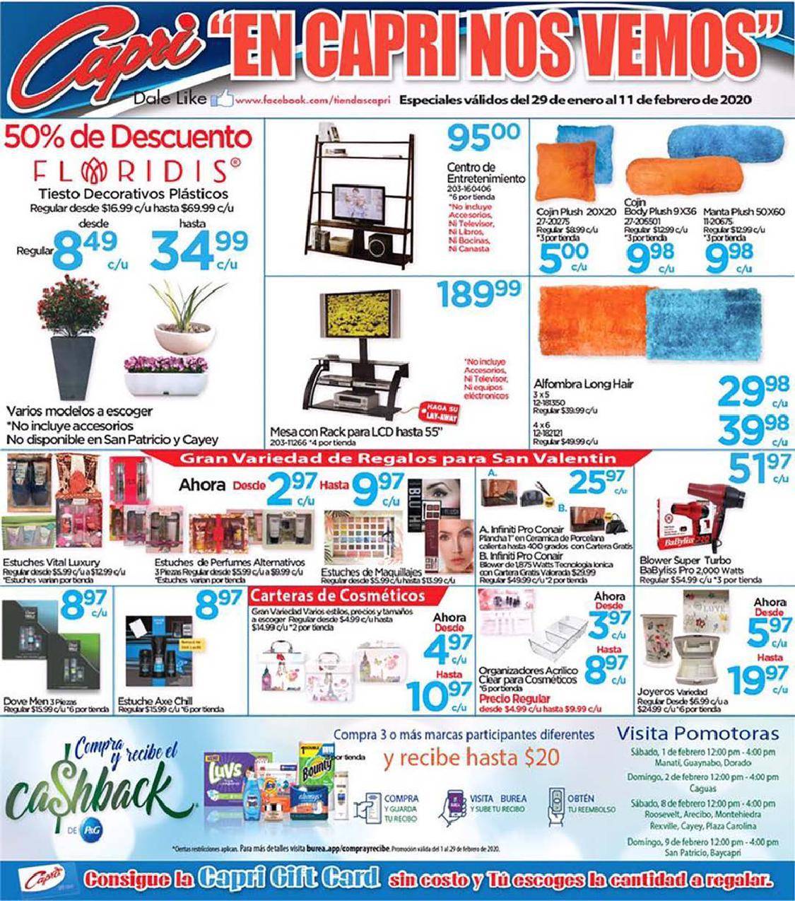 Shopper Capri 29 de Enero al 11 de Febrero de 2020