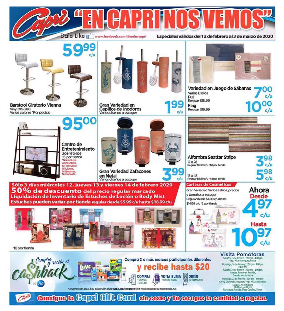Shopper Capri 12 de Febrero al 3 de Marzo de 2020