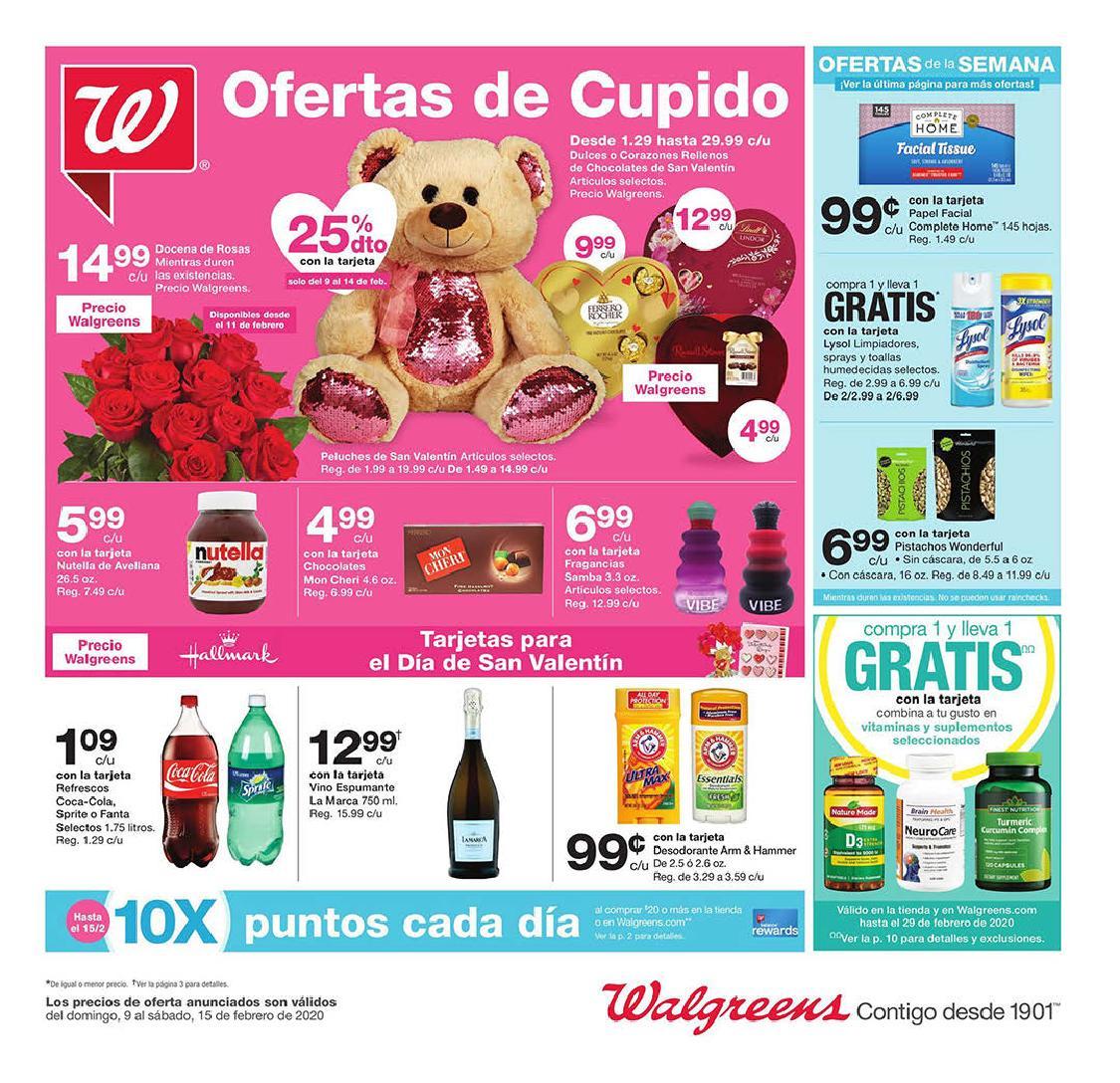 Shopper de Walgreens 9 de Febrero al 15 de Febrero de 2020