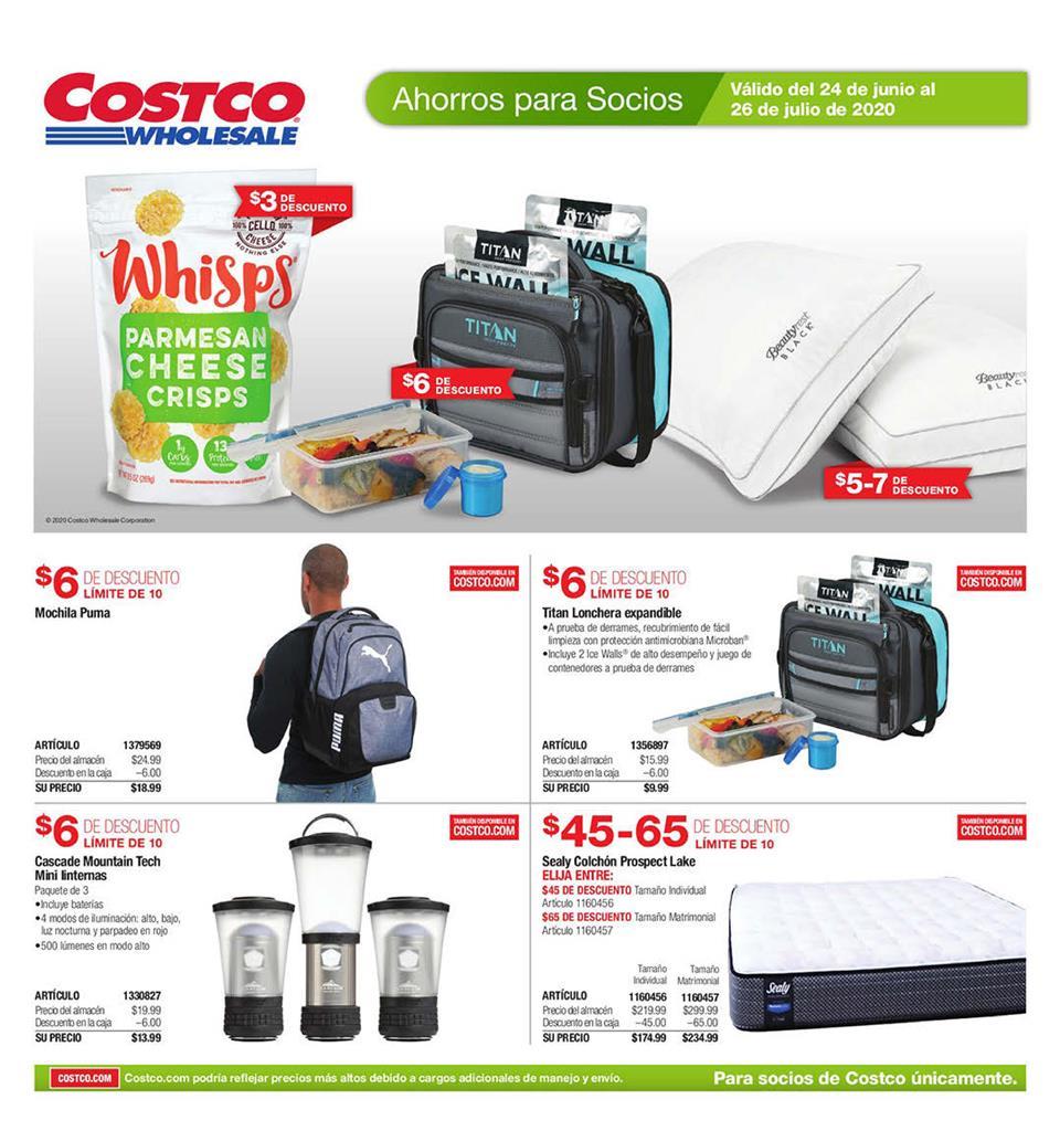 Shopper Costco 24 de Junio al 26 de Julio de 2020