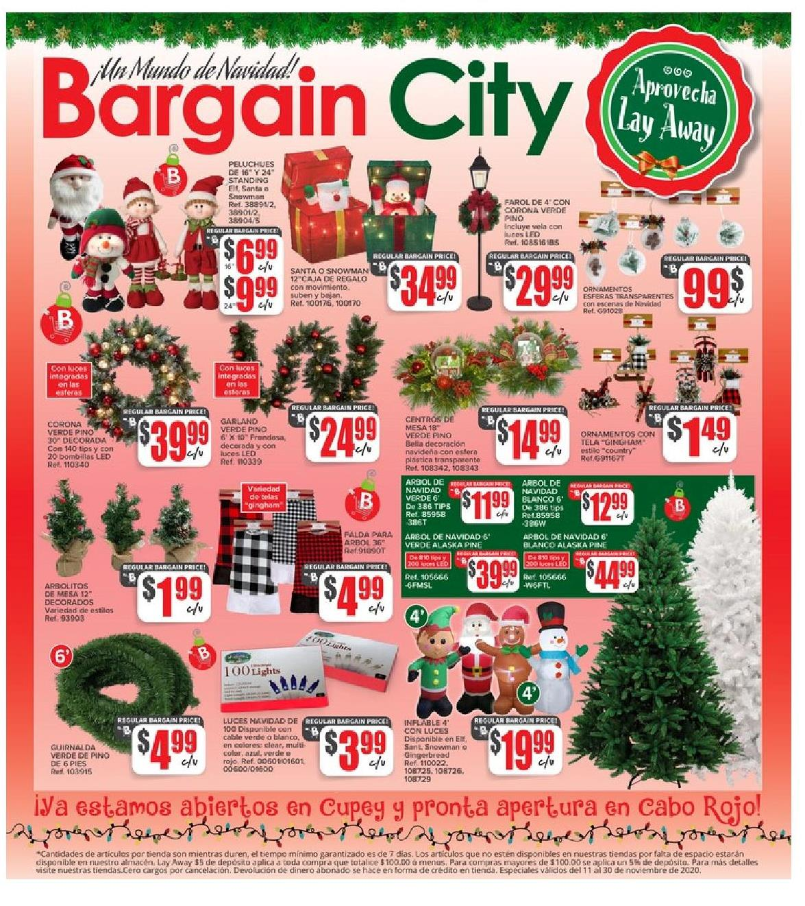 Shopper Bargain City 11 de Noviembre al 30 de Noviembre de 2020