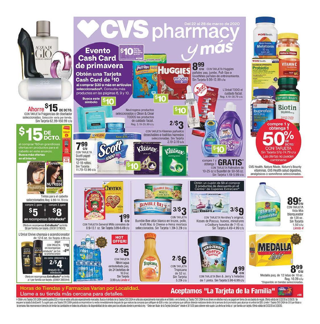 Shopper de CVS 22 de Marzo al 28 de Marzo de 2020