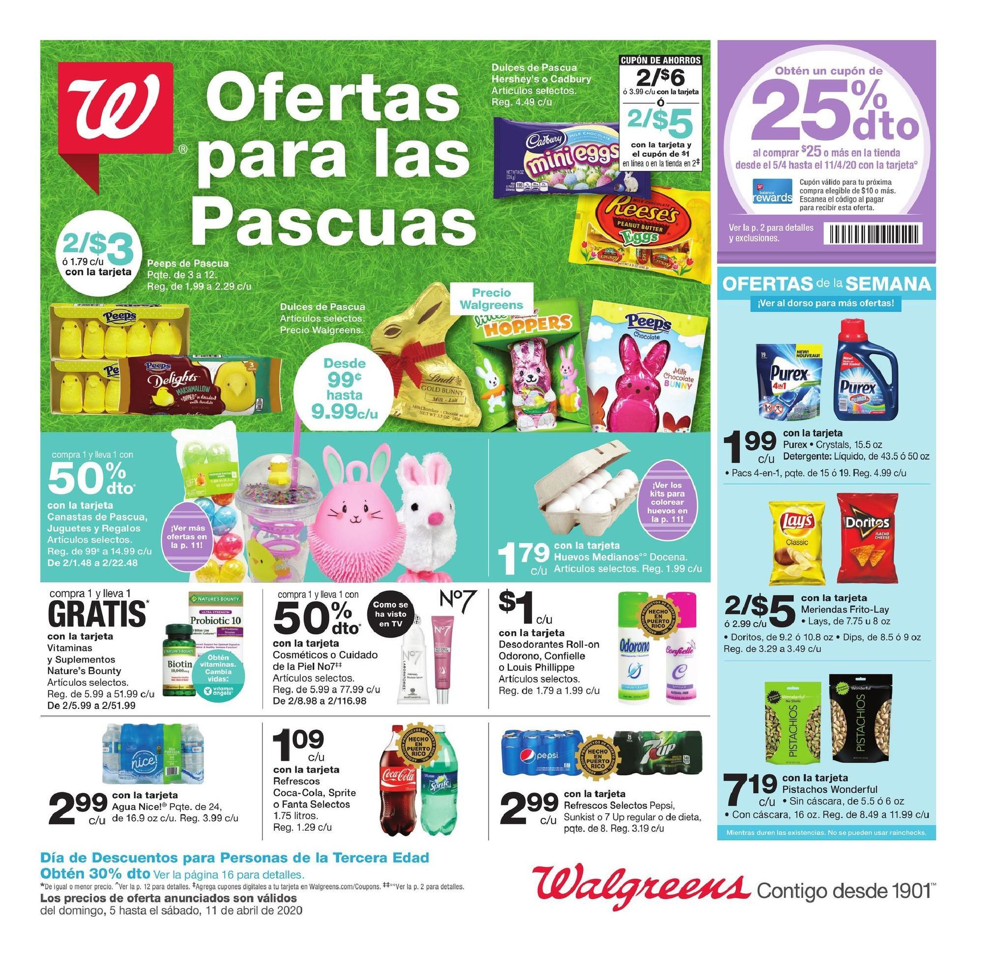 Shopper de Walgreens 5 de Abril al 11 de Abril de 2020