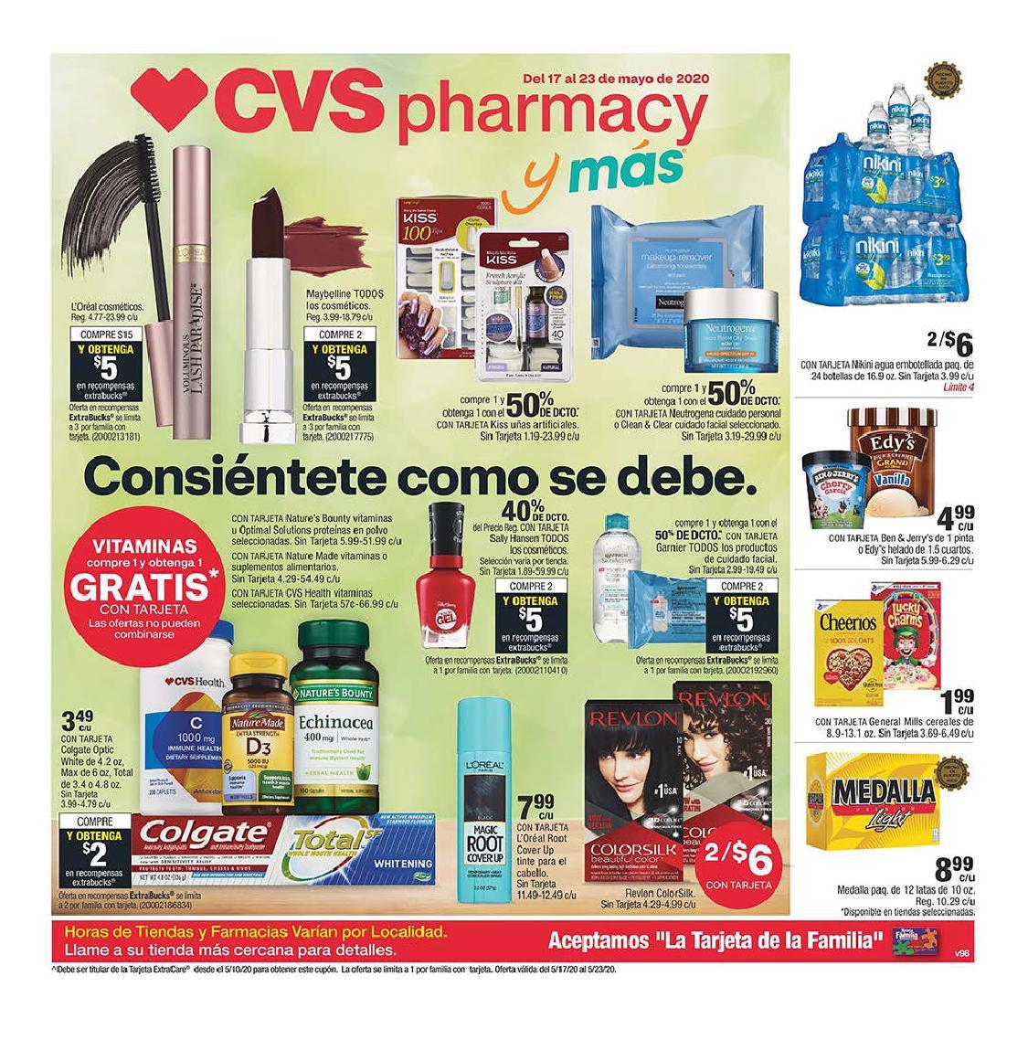 Shopper de CVS 17 de Mayo al 23 de Mayo de 2020