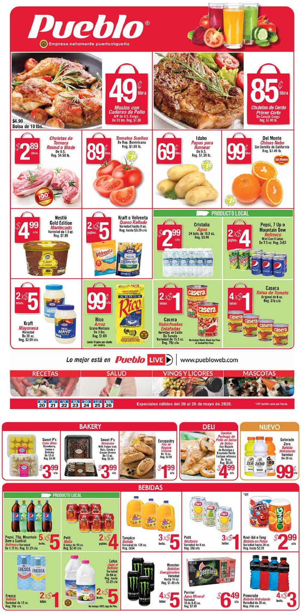 Shopper Pueblo 20 de Mayo al 26 de Mayo de 2020