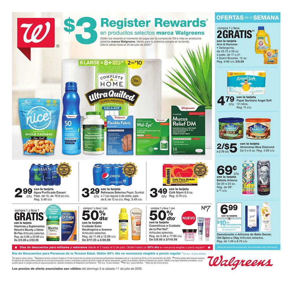 Shopper de Walgreens 5 de Julio al 11 de Julio de 2020