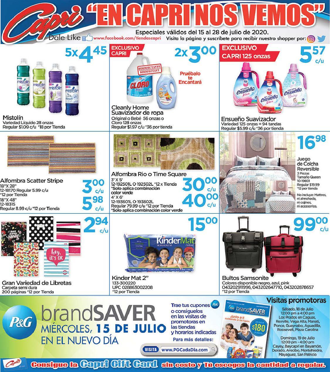Shopper Capri 15 de Julio al 28 de Julio de 2020