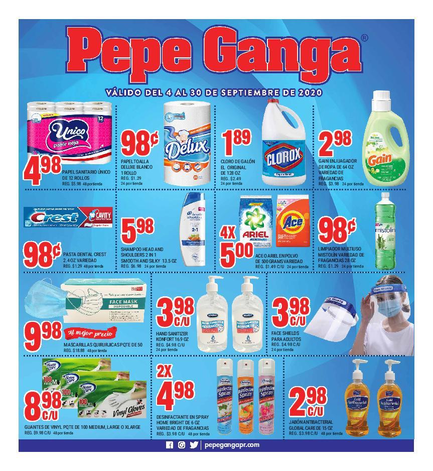 Shopper Pepe Ganga 4 de Septiembre al 30 de Septiembre de 2020