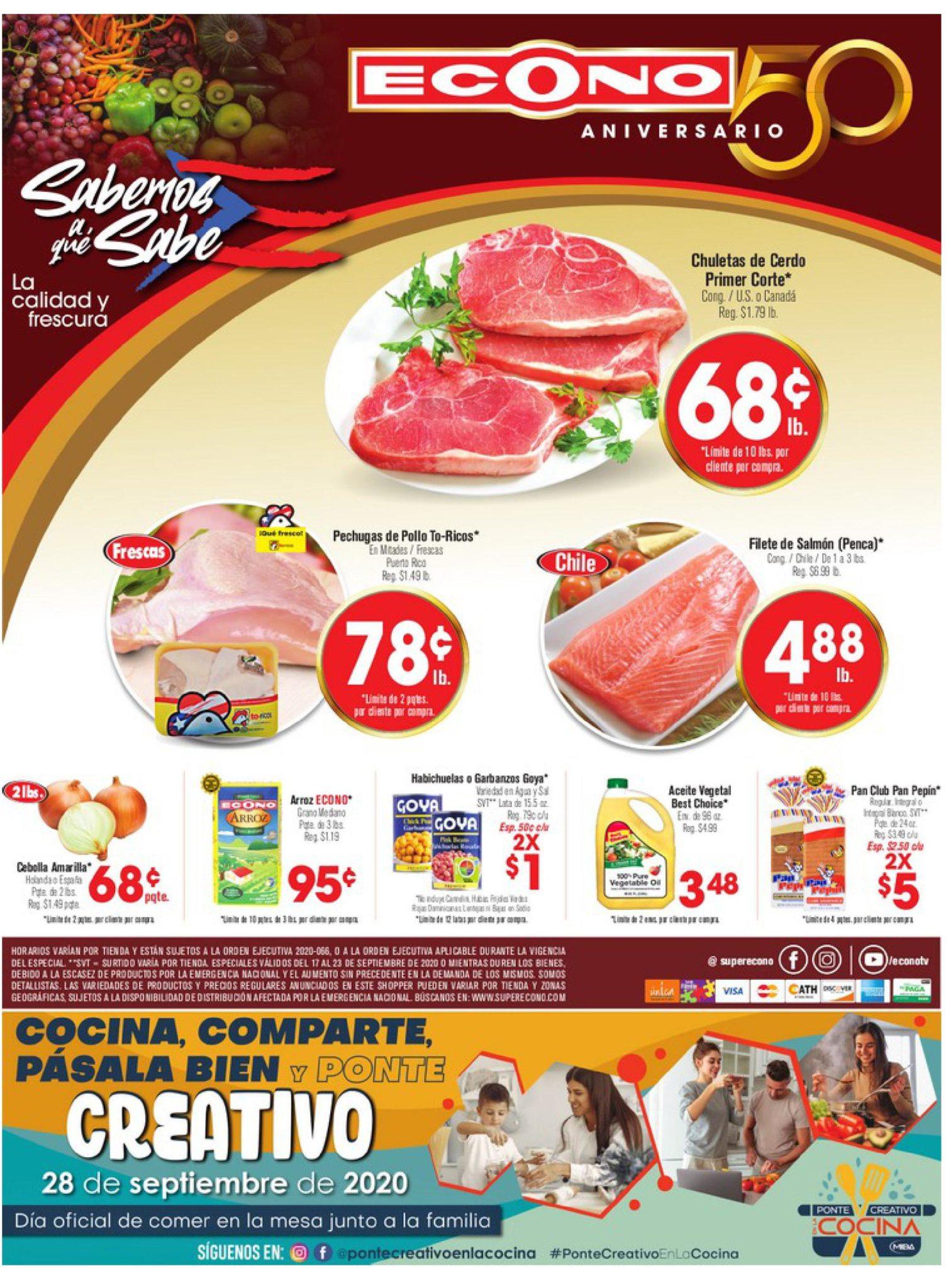 Shopper Econo 17 de Septiembre al 23 de Septiembre de 2020