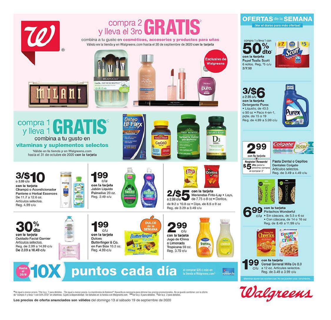 Shopper de Walgreens 13 de Septiembre al 19 de Septiembre de 2020