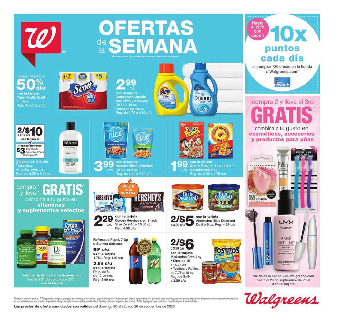Shopper de Walgreens 20 de Septiembre al 26 de Septiembre de 2020