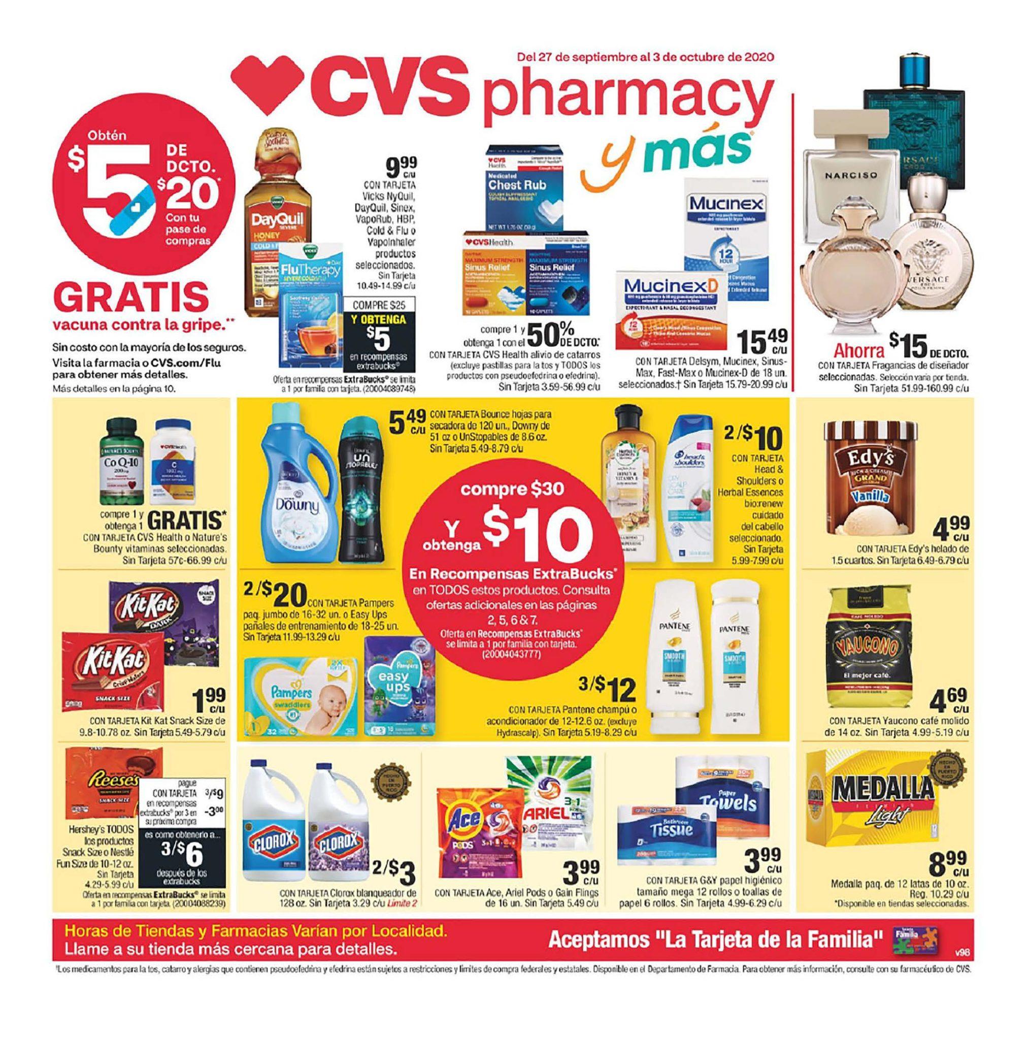 Shopper de CVS 27 de Septiembre al 3 de Octubre de 2020
