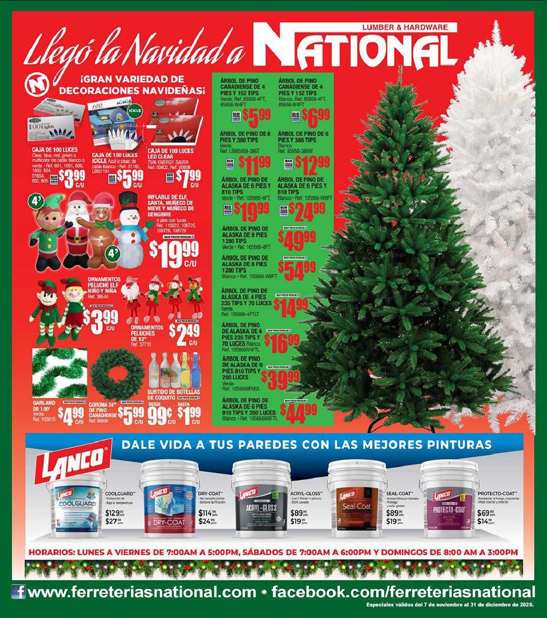 Shopper Ferreterias National 7 de Noviembre al 31 de Dicembre de 2020