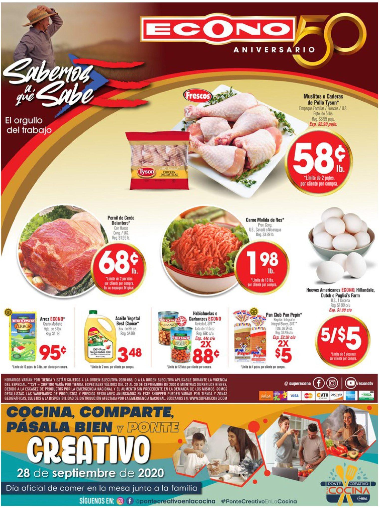 Shopper Econo 24 de Septiembre al 30 de Septiembre de 2020