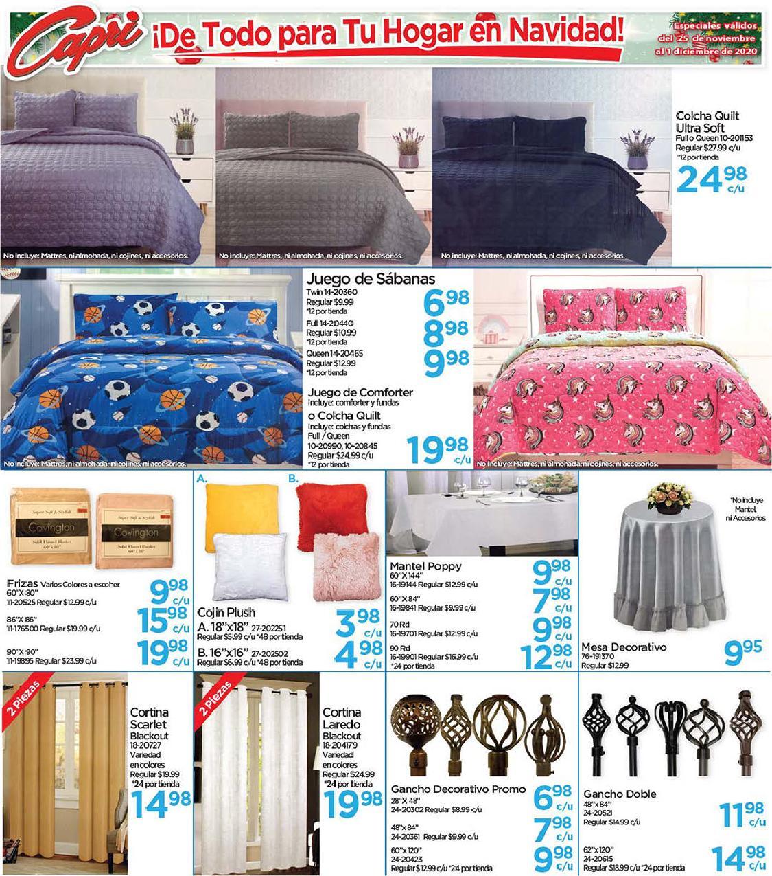 Shopper Capri 25 de Noviembre al 1 de Diciembre de 2020