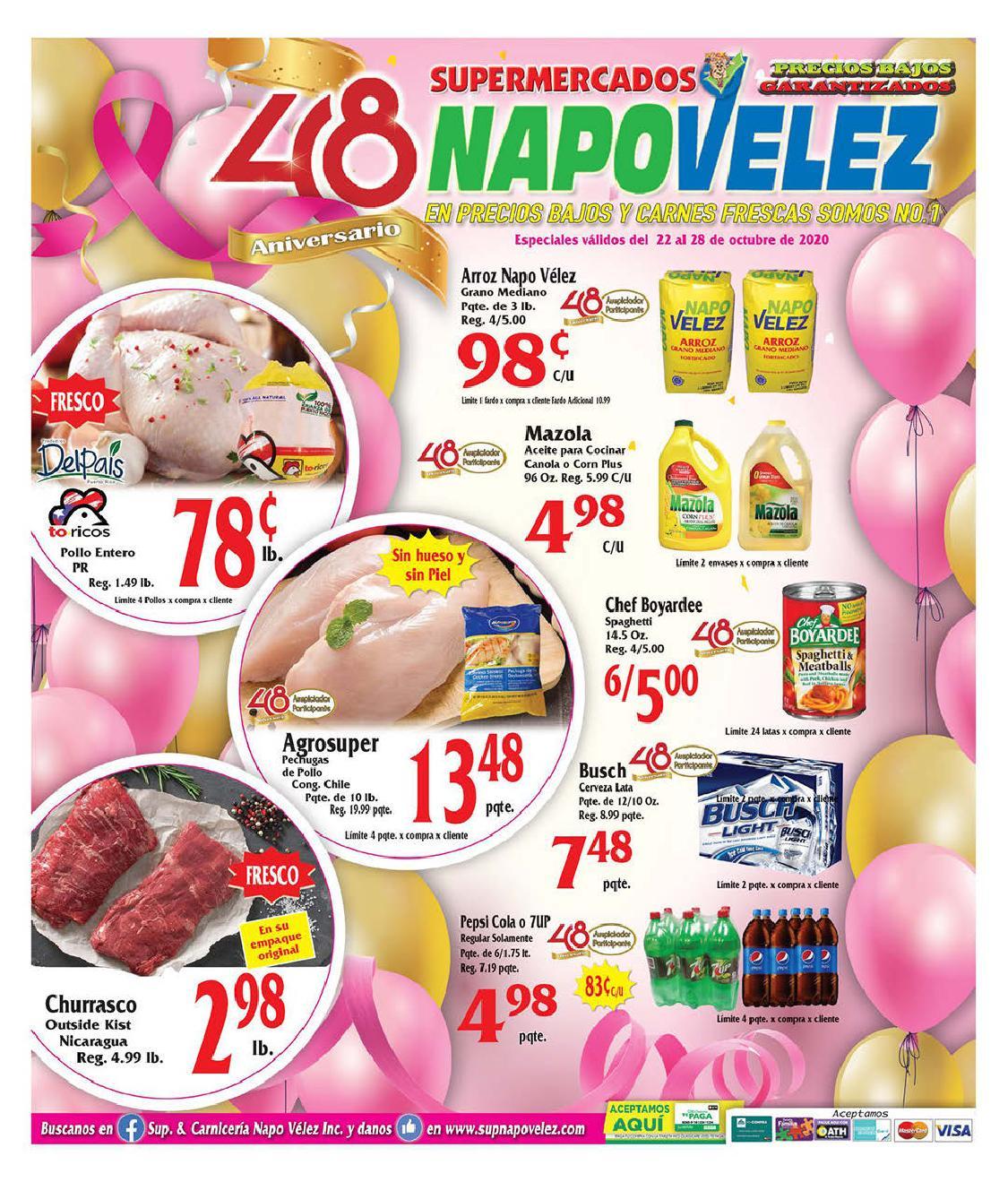 Shopper Napo Velez 22 de Octubre al 28 de Octubre de 2020