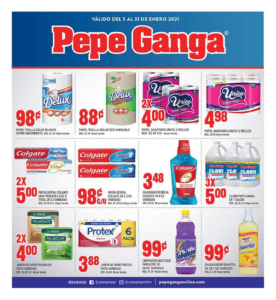 Shopper Pepe Ganga 5 de Enero al 31 de Enero de 2021