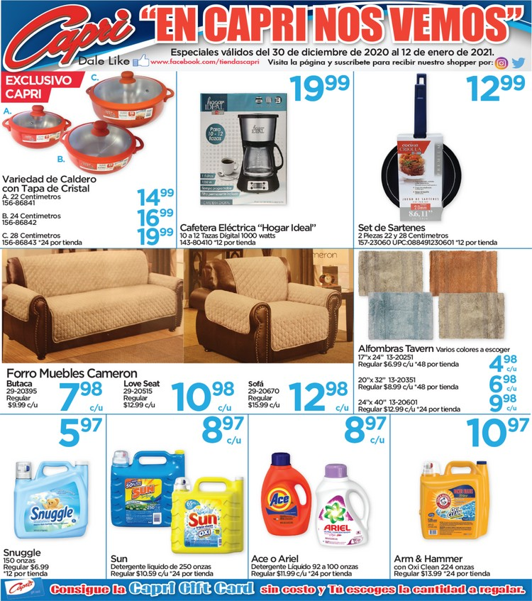 Shopper Capri 6 de Enero al 12 de Enero de 2021