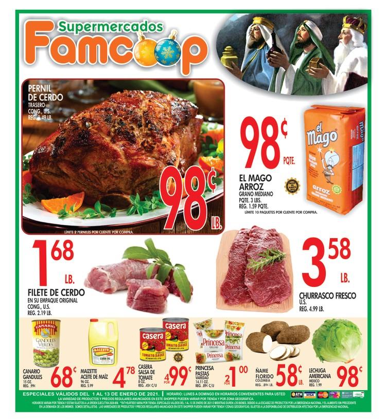 Shopper Fam Coop 7 de Enero al 13 de Enero de 2021