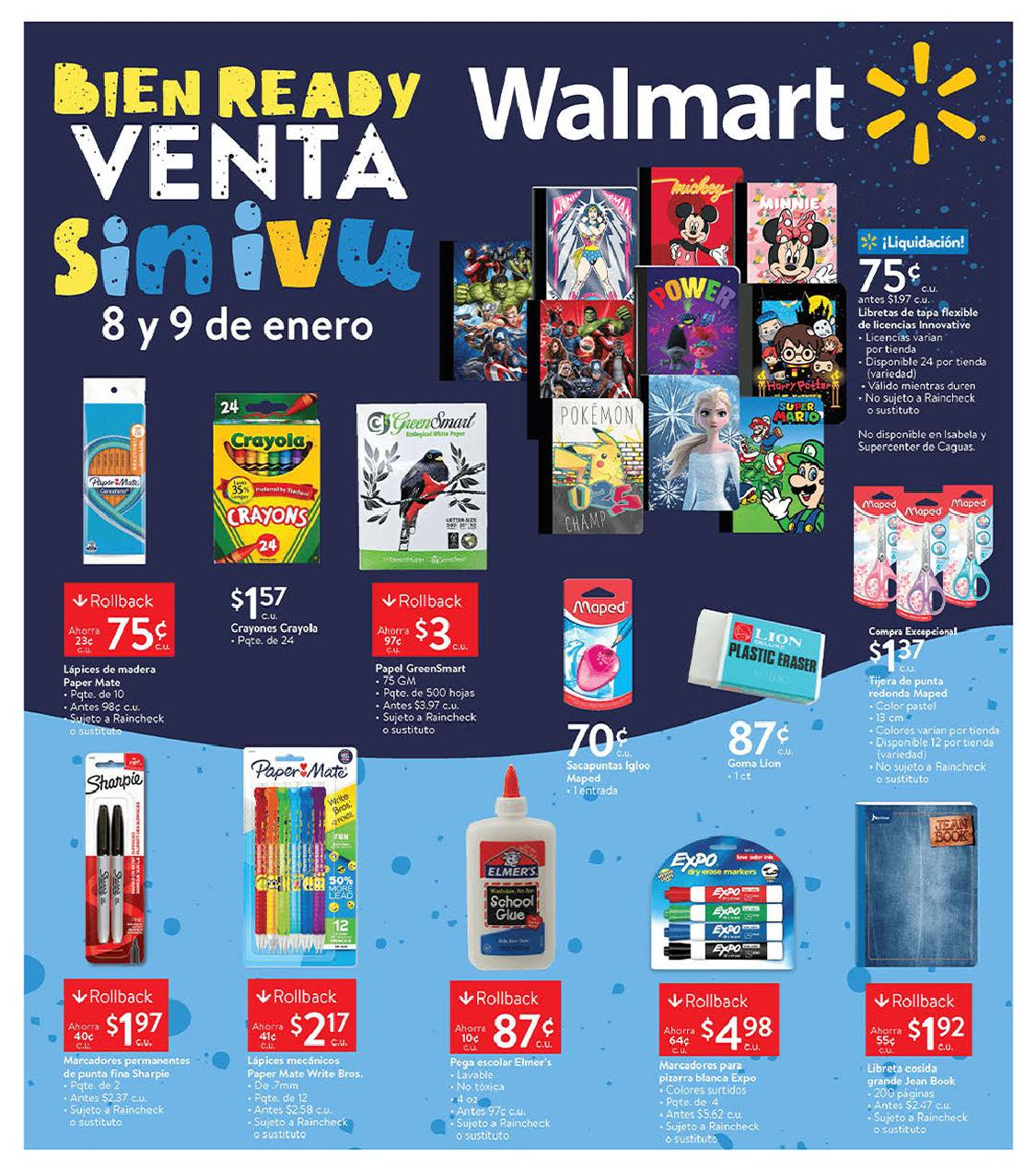 Shopper Walmart 8 de Enero al 9 de Enero de 2021